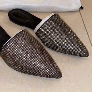 Schutz black crystal slides